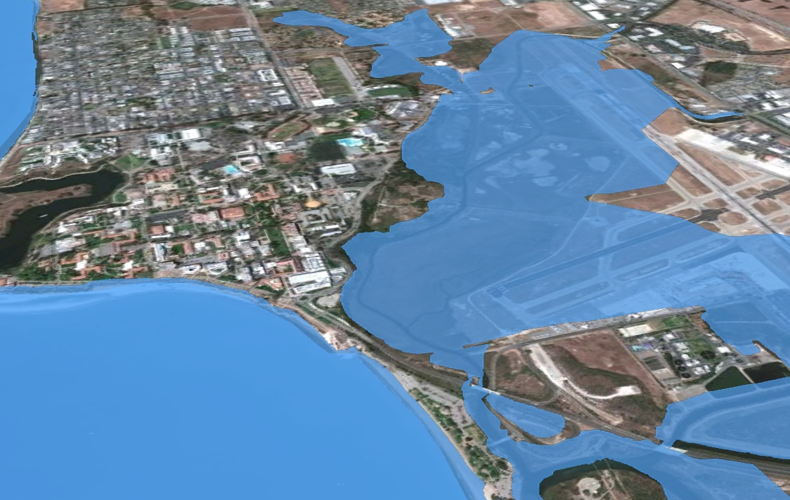 Google Earth Layers For Santa Barbara Sea Level Rise New Media - Google maps sea level