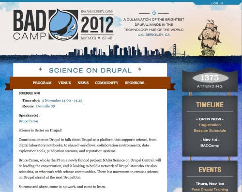 Science on Drupal at BadCamp